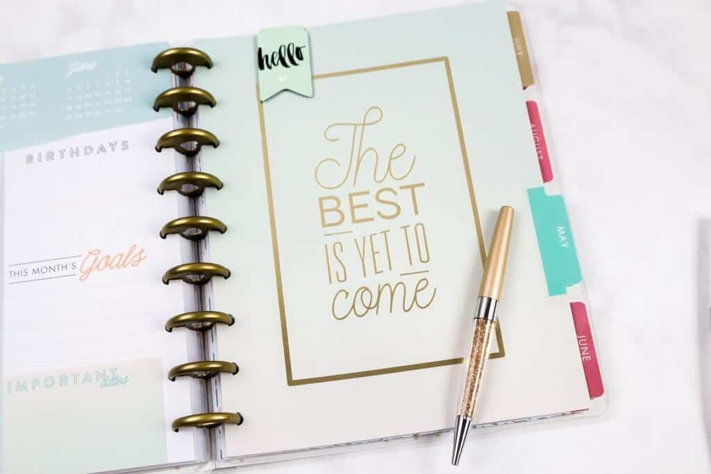 Why you should use a creative journal to help you boost your creativity. The best is yet to come quote.