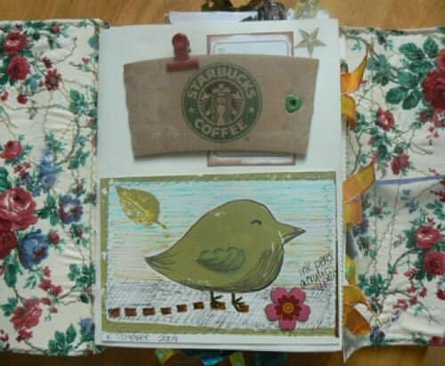 Using scraps as a type of creative journaling. Even coffee cozies.