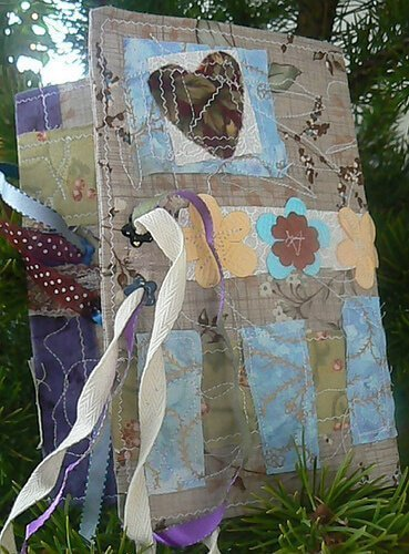 Design your own creative journal from scraps of paper and materials or buy one and alter it.