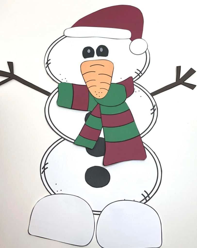 picture relating to Printable Snowman named Uncomplicated Printable Snowman Craft for Young children
