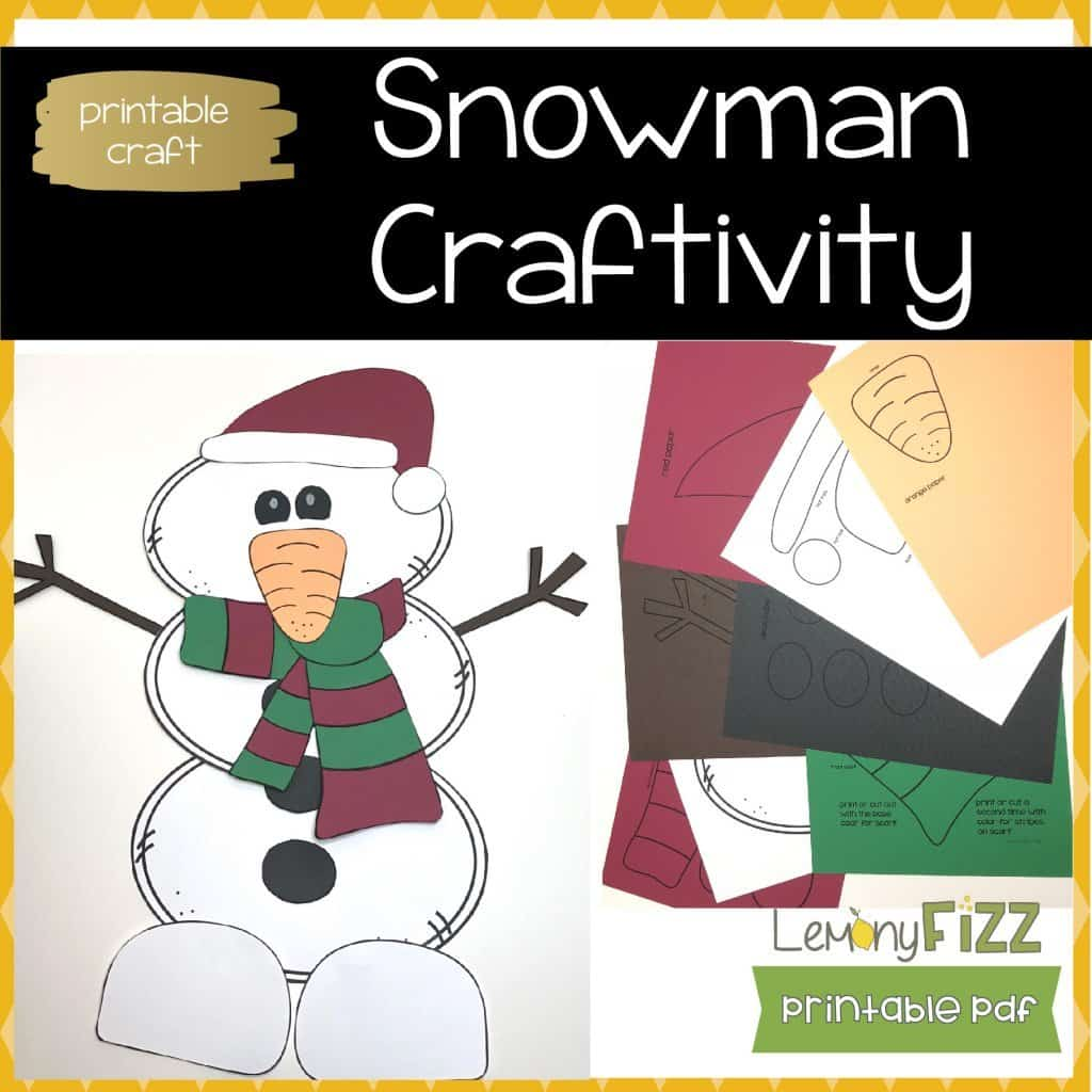 A snowman craft for kids that will keep them busy during long winter days or the busy Christmas season.
